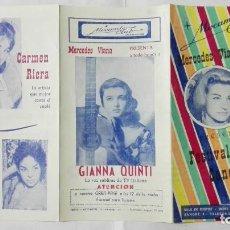 Coleccionismo de carteles: MOGAMBO CLUB Y MERCEDES VIANA, PRESENTA FESTIVAL DE LA CANCION, CON PEPITA VILLA, RAFAEL CONDE . Lote 195288952