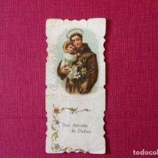 Coleccionismo de carteles: ANTIGUO CARTELITO CON PUBLICIDAD. LIBRERÍA RELIGIOSA. SOBRINO DE IZQUIERDO. SEVILLA. Lote 195317456