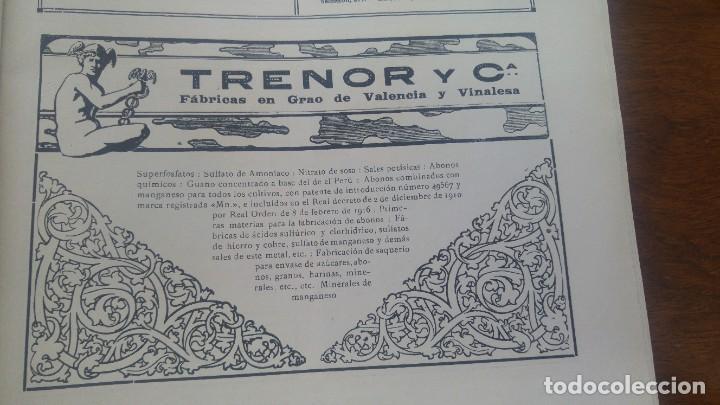 TRENOR Y Cª FABRICAS EN GRAO DE VALENCIA Y VINALESA GUANO SUPERFOSFATOS ABONOS HOJA AÑO 1920 (Coleccionismo - Carteles Pequeño Formato)