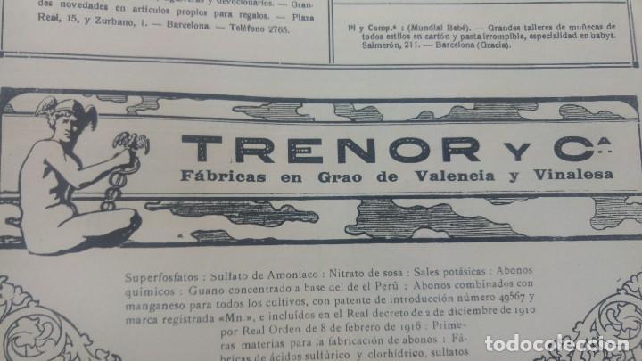 Coleccionismo de carteles: TRENOR Y Cª FABRICAS EN GRAO DE VALENCIA Y VINALESA GUANO SUPERFOSFATOS ABONOS HOJA AÑO 1920 - Foto 3 - 195354157