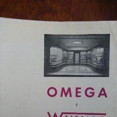 Coleccionismo de carteles: RELOJES OMEGA Y WIKING HOJA PUBLICIDAD AÑO 1962. Lote 195482686