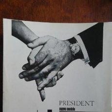 Coleccionismo de carteles: RELOJ SUIZO NUEVO MODELO -PRESIDENT -FESTINA HOJA PUBLICIDAD AÑO 1968. Lote 195482850