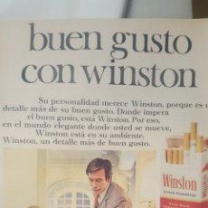 Coleccionismo de carteles: HOJA PUBLICIDAD WINSTON. AÑO 1968. Lote 195512577