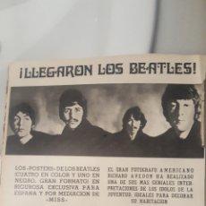 Coleccionismo de carteles: REVISTA MISS. LLEGARON LOS BEATLES. PUBLICIDAD AÑO 1968 DE 30 X 22 CM. Lote 195512938