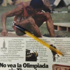 Coleccionismo de carteles: NO VEA LA OLIMPIADA SIN THOM NI SON VEALA EN UN THOMSON TELEVISORES COLOR.. Lote 195514700