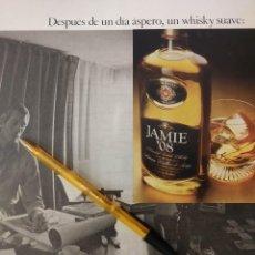 Coleccionismo de carteles: WHISKY JAMIE 08 DESPUES DE UN DIA ASPERO UN WHISKY SUAVE.. Lote 195514782