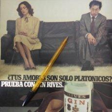 Coleccionismo de carteles: GIN RIVES PARA LOS AMORES PLATONICOS.. Lote 195515325