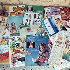 Coleccionismo de carteles: LOTE PUBLICIDAD AÑOS 70: NANCY, FAMOSA, NOCILLA, COLA CAO, BIMBOVISION, SEÑORITA PEPIS.... Lote 195545012
