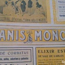 Collezionismo di affissi: ANIS DEL MONO VICENTE BOSCH BADALONA CHAMPAGNES SPORT EXCELSIOR BARCELONA HOJA REVISTA AÑO 1906. Lote 195968328