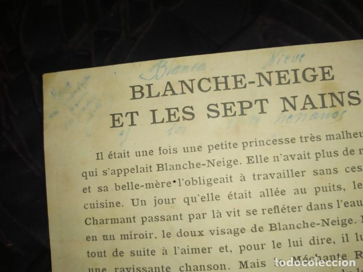 Coleccionismo de carteles: BLANCANIEVES Y LOS SIETE ENANITOS ÚNICO? CARTEL PUBLICIDAD PROGRAMA LÁMINA LITOGRAFÍA PRECIOSO N° 1 - Foto 11 - 196626742