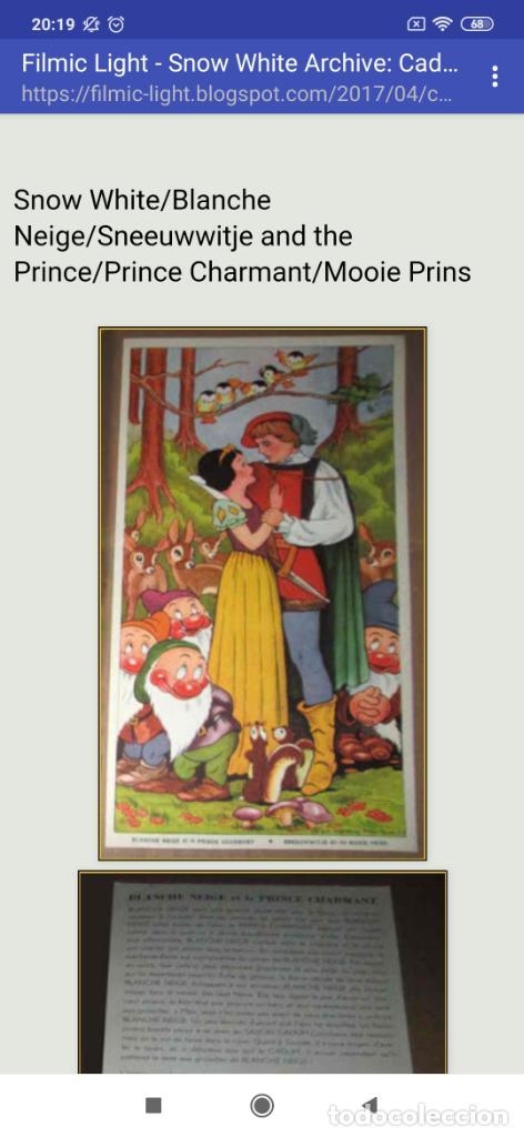 Coleccionismo de carteles: BLANCANIEVES Y LOS SIETE ENANITOS ÚNICO? CARTEL PUBLICIDAD PROGRAMA LÁMINA LITOGRAFÍA PRECIOSO N° 1 - Foto 17 - 196626742