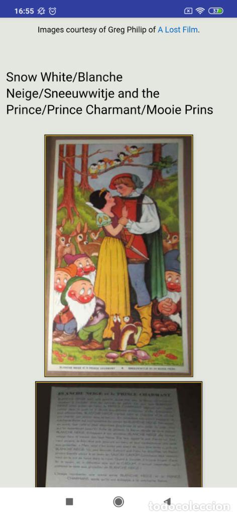 Coleccionismo de carteles: BLANCANIEVES Y LOS SIETE ENANITOS ÚNICO? CARTEL PUBLICIDAD PROGRAMA LÁMINA LITOGRAFÍA PRECIOSO N° 1 - Foto 19 - 196626742