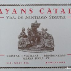 Coleccionismo de carteles: PUBLICIDAD FAYANS CATALA CRISTAL VAJILLAS GRAN VIA BARCELONA. 1929. Lote 196736953