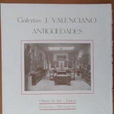 Coleccionismo de carteles: PUBLICIDAD GALERIAS J. VALENCIANO ANTIGÜEDADES PLAZA REAL BARCELONA MONUMENTO COLON. 1929. Lote 196742948