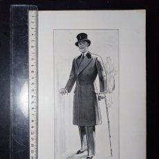 Coleccionismo de carteles: CARTEL PUBLICITARIO, LÁMINA DE CARTÓN, MODA FASHION LONDON. 1929. Lote 196775803