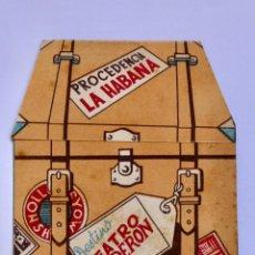 Collectionnisme d'affiches: MARIA DE LOS ANGELES SANTANA.FOLLETO TROQUELADO.DE CUBA A MADRID.TEATRO. Lote 196887040