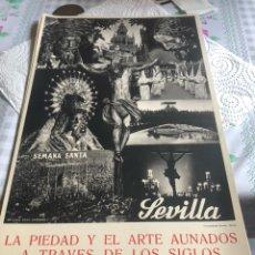 Coleccionismo de carteles: CARTEL DE LA SEMANA SANTA DE SEVILLA, AÑOS 40. Lote 197215167