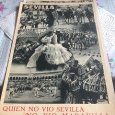 Coleccionismo de carteles: CARTEL DE LA FERIA DE ABRIL DE SEVILLA, AÑOS 40. Lote 197215420