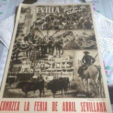 Coleccionismo de carteles: CARTEL DE LA FERIA DE ABRIL DE SEVILLA, AÑOS 40. Lote 197215723