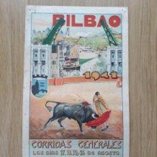 Colecionismo de cartazes: CARTEL DE TOROS DE BILBAO 1941. Lote 197815665