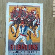 Colecionismo de cartazes: CARTEL DE TOROS DE BILBAO 1943. Lote 198094276