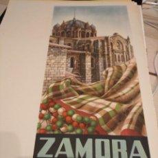Collectionnisme d'affiches: PRECIOSO CARTEL LITOGRAFICO DE ZAMORA, IGLESIA ROMÀNICA EN PRIMER PLANO SOBRE MANTÒN.. Lote 31934256