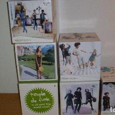Coleccionismo de carteles: PUBLICIDAD 6 CUBOS CARTÓN MARCA SKUNK FUNK ROPA. Lote 198364552