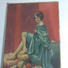Coleccionismo de carteles: CARTEL PUBLICIDAD ANTIGUO AÑOS 20 DE CARTON ,BONITA IMAGEN DE MUJER. Lote 198685683
