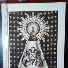 Coleccionismo de carteles: ZARAGOZA, ARAGON, VIRGEN DEL PILAR, GUERRA CIVIL, LAMINA, GRABADO, EDICIÓN LUCKER. Lote 198801432