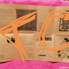 Coleccionismo de carteles: CARTEL EXPOSICIÓN - EXPERIMENTA- POESIA DE VANGUARDIA. MADRID 1972. Lote 198851180