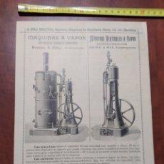 Colecionismo de cartazes: PUBLICIDAD ANTIGUA MAQUINARIA PARA FABRICAR PAPEL.. Lote 199201846