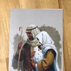 Coleccionismo de carteles: DIPTICO FELICITACION NAVIDAD CHRISTMAS PINTOR ALFREDO ENGUIX SAN JOSE VIRGEN CON NIÑO FIRMA ORIGINAL. Lote 199431892