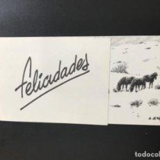 Coleccionismo de carteles: DIPTICO FELICITACION NAVIDAD 2004 ORIGINAL PINTOR ALFREDO ENGUIX CABALLOS EN NIEVE FIRMADO Y DEDICAD. Lote 199431865