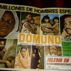 Coleccionismo de carteles: PEQUEÑO CARTEL DOMUND AÑO 1976. Lote 199777660