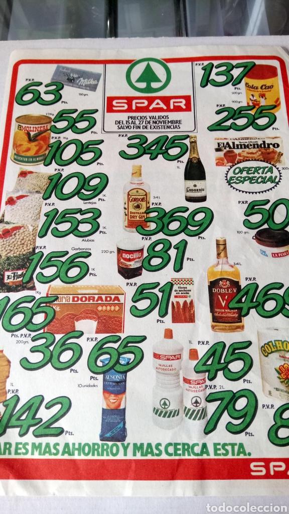 Coleccionismo de carteles: ANTIGUO FOLLETO DE SUPERMERCADOS SPAR. AÑOS 70. - Foto 2 - 199793950