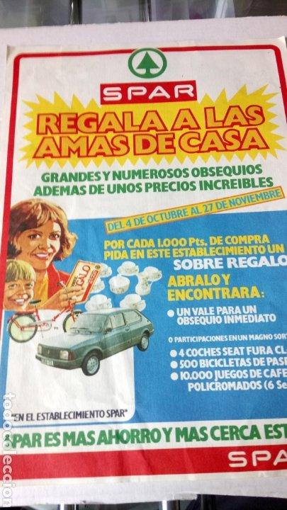ANTIGUO FOLLETO DE SUPERMERCADOS SPAR. AÑOS 70. (Coleccionismo - Carteles Pequeño Formato)