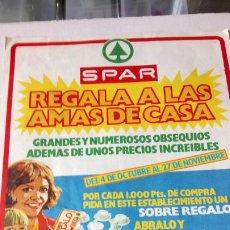 Coleccionismo de carteles: ANTIGUO FOLLETO DE SUPERMERCADOS SPAR. AÑOS 70.. Lote 199793950