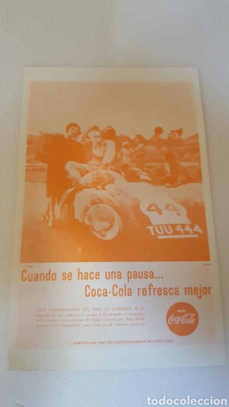FOLLETO PUBLICITARIO ORIGINAL DE EPOCA. COCA COLA. AÑO 1962. 23 X 12 CM. EXCEPCIONAL Y RARISIMO. (Coleccionismo - Carteles Pequeño Formato)