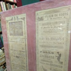 Coleccionismo de carteles: DOBLE CARTEL TAURINO ANTIGUO, PLAZA DE TOROS DE VALENCIA AÑO 1905. Lote 200199565