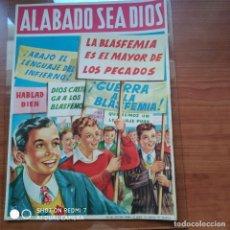 Colecionismo de cartazes: CARTEL BLASFEMIA 33×24 CM. Lote 200649692