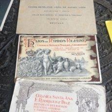 Coleccionismo de carteles: LOTE DE 3 CUARTILLAS CON PUBLICIDAD DE EMPRESAS DE CERÁMICA, AÑOS 20, SEVILLA. Lote 200811135