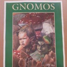Coleccionismo de carteles: POSTER GNOMOS , GUIA DE LOS SERES MÁGICOS DE ESPAÑA. Lote 201146510