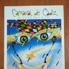 Coleccionismo de carteles: PEQUEÑO CÁRTEL DEL CARNAVAL DE CÁDIZ AÑO 1999. COAC.. Lote 245476825