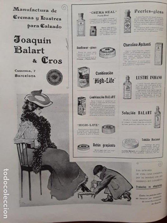 MANUFACTURAS DE CREMAS Y LUSTRES PARA EL CALZADO -JOAQUIN BALART & CROS BARCELONA HOJA AÑO 1903 (Coleccionismo - Carteles Pequeño Formato)