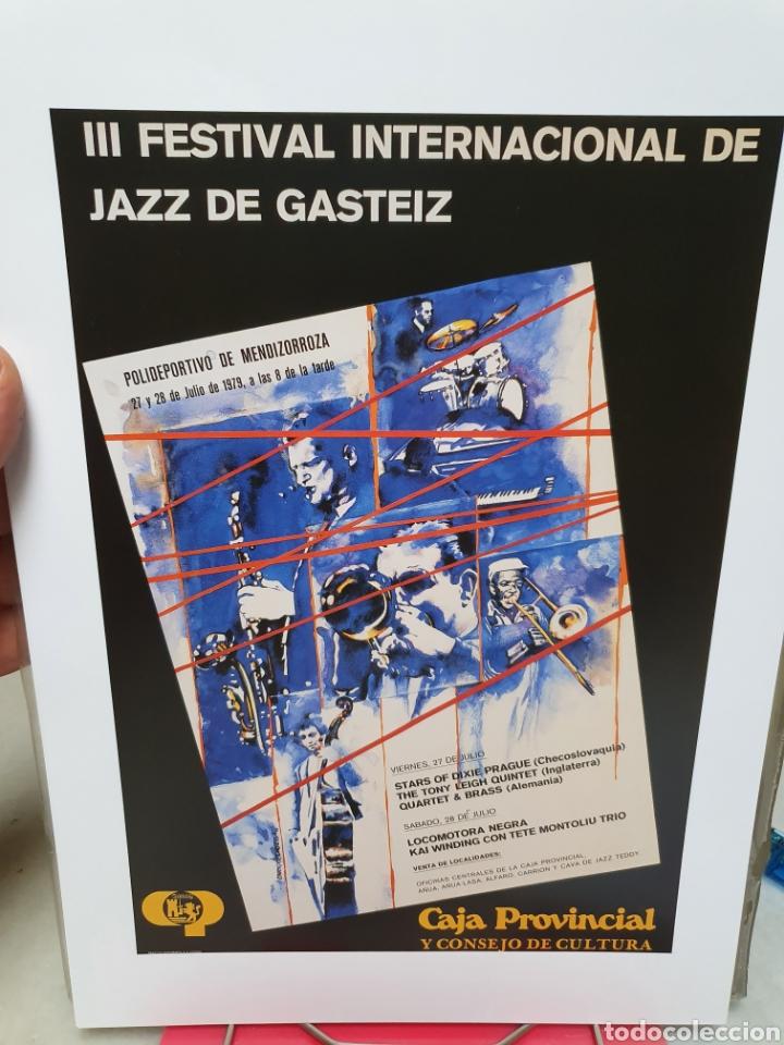 Coleccionismo de carteles: FESTIVAL DE JAZZ DE VITORIA. REPRODUCCION DE CARTELES. 1977-2006. - Foto 3 - 202811856