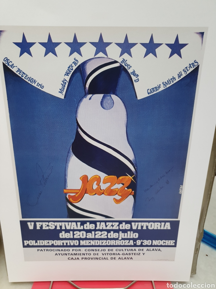 Coleccionismo de carteles: FESTIVAL DE JAZZ DE VITORIA. REPRODUCCION DE CARTELES. 1977-2006. - Foto 8 - 202811856