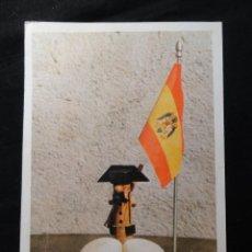 Coleccionismo de carteles: CARTEL - MUÑECO GUARDIA CIVIL EN MADERA, DOS HUEVOS, BANDERA PRE-CONSTITUCIONAL. TEJERO 23F.. Lote 202892316