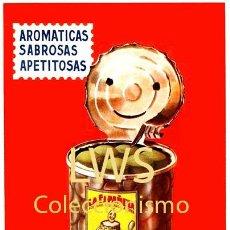 Colecionismo de cartazes: CARTELES PUBLICITARIOS FRUTAS Y VERDURAS - PUBLICIDAD IMÁGENES - ACEITUNAS OLIVAS LA ESPAÑOLA ALCOY. Lote 184207631