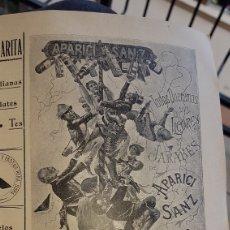 Coleccionismo de carteles: ANUNCIO 1903 LICORES Y JARABES APARICI Y SANZ JATIVA. Lote 203807373