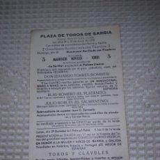 Coleccionismo de carteles: NOVILLADA EN SÁRRIA (LUGO). EL PLATANITO Y EL SALMANTINO 1970. Lote 204205338